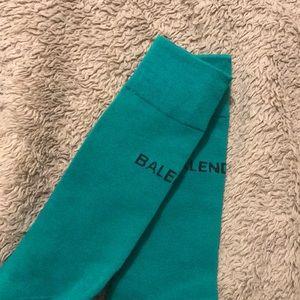 Teal Balenciaga socks